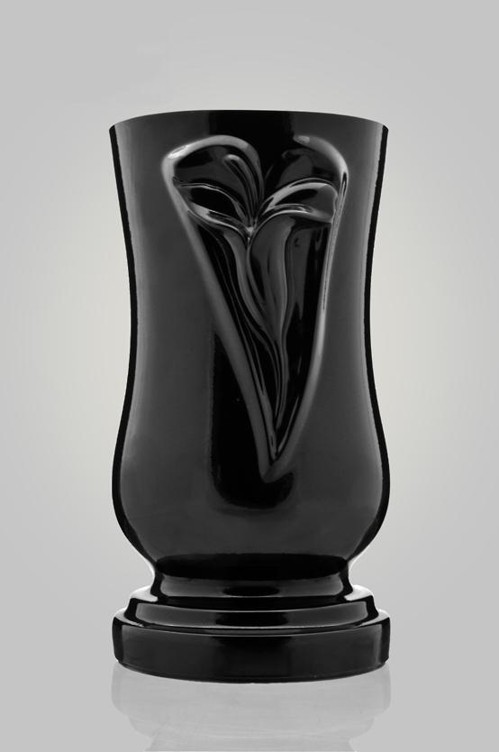 37-grafvaas met binnenvaas-composiet-zwart